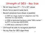 strength of des key size