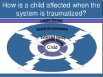 how is a child affected when the system is traumatized