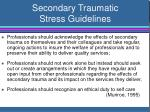 secondary traumatic stress guidelines