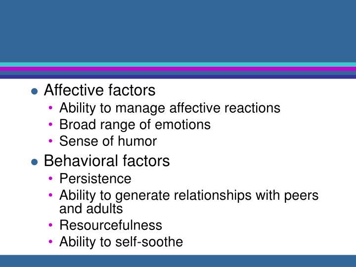 Affective factors