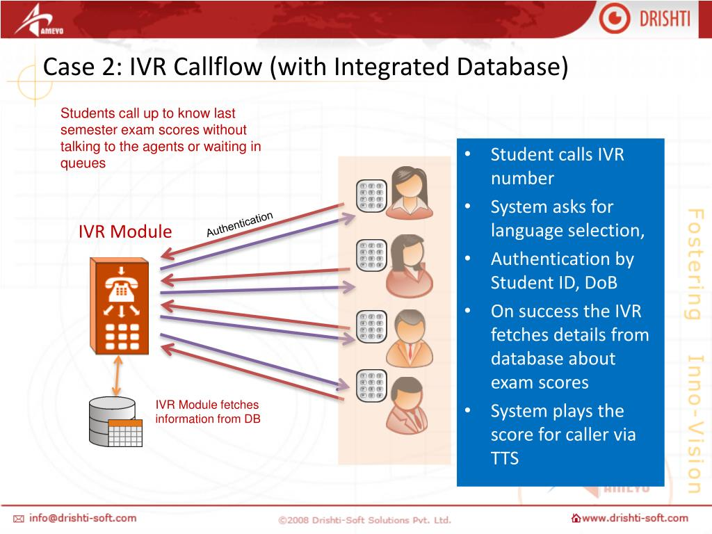 Case 2: IVR Callflow (with Integrated Database)