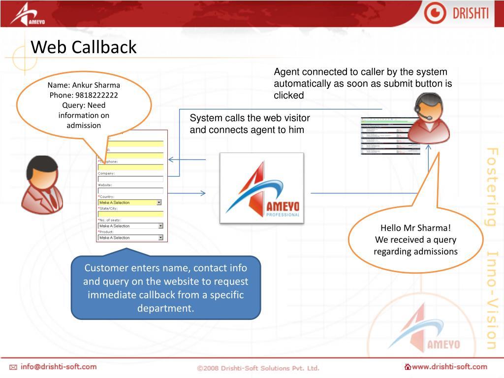 Web Callback