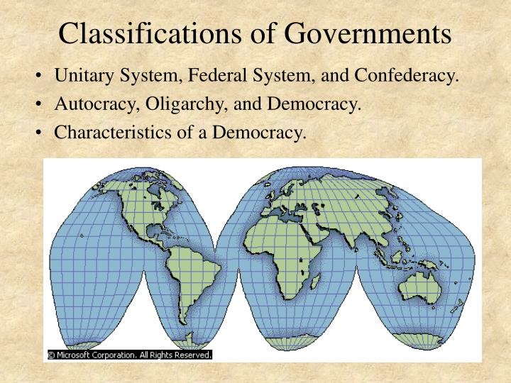 Classifications of governments l.jpg