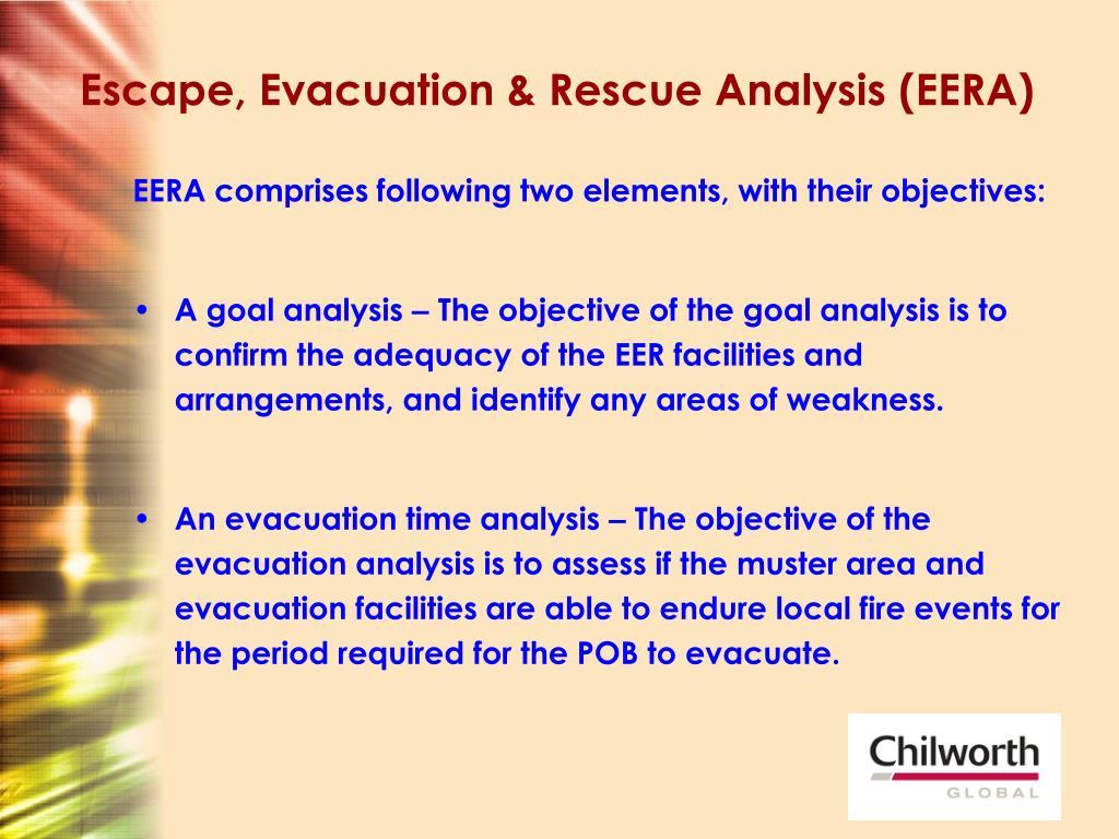 Escape, Evacuation & Rescue Analysis (EERA)