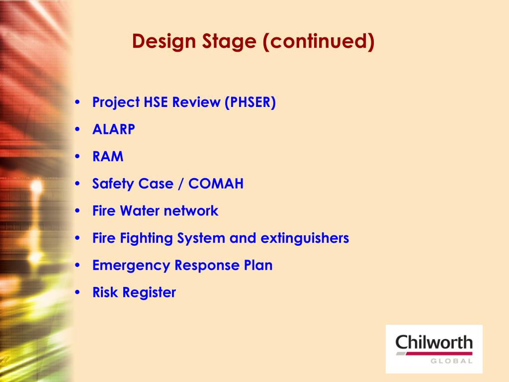 Design Stage (continued)