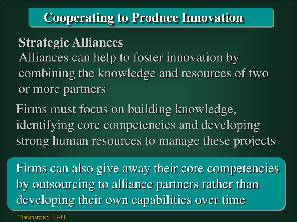 Cooperating to Produce Innovation