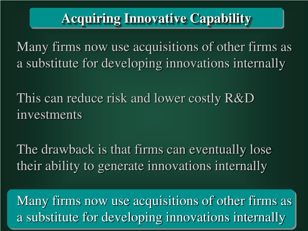 Acquiring Innovative Capability