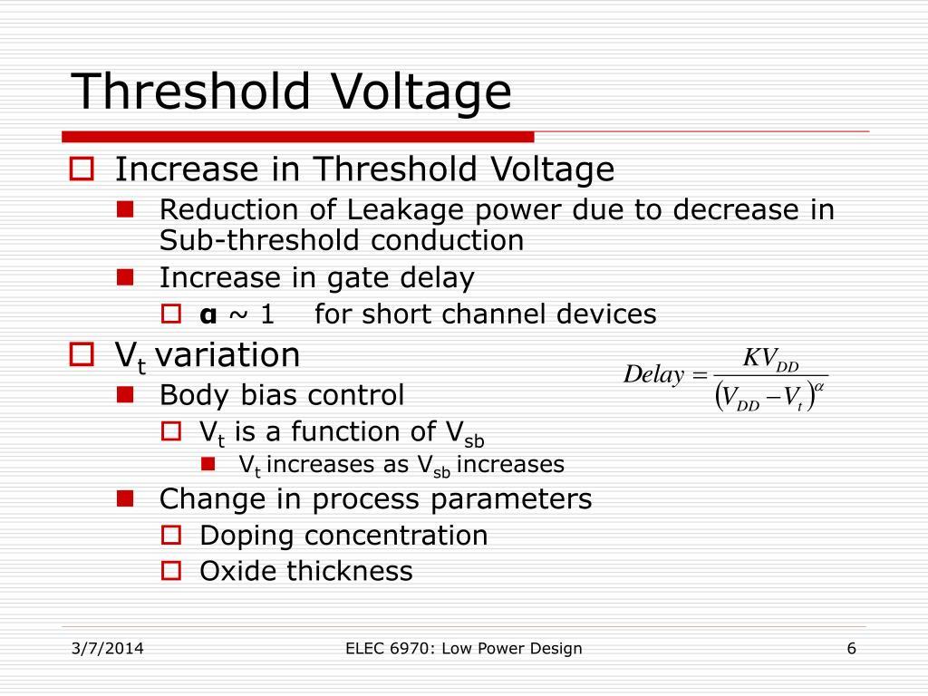 Threshold Voltage