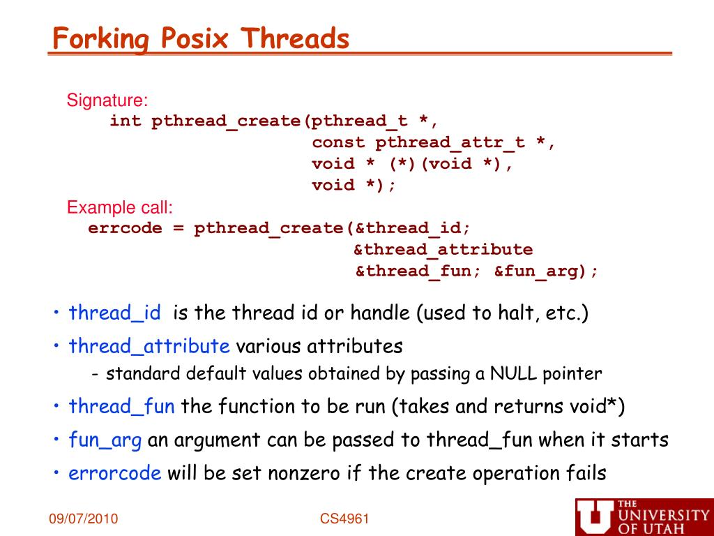 Forking Posix Threads