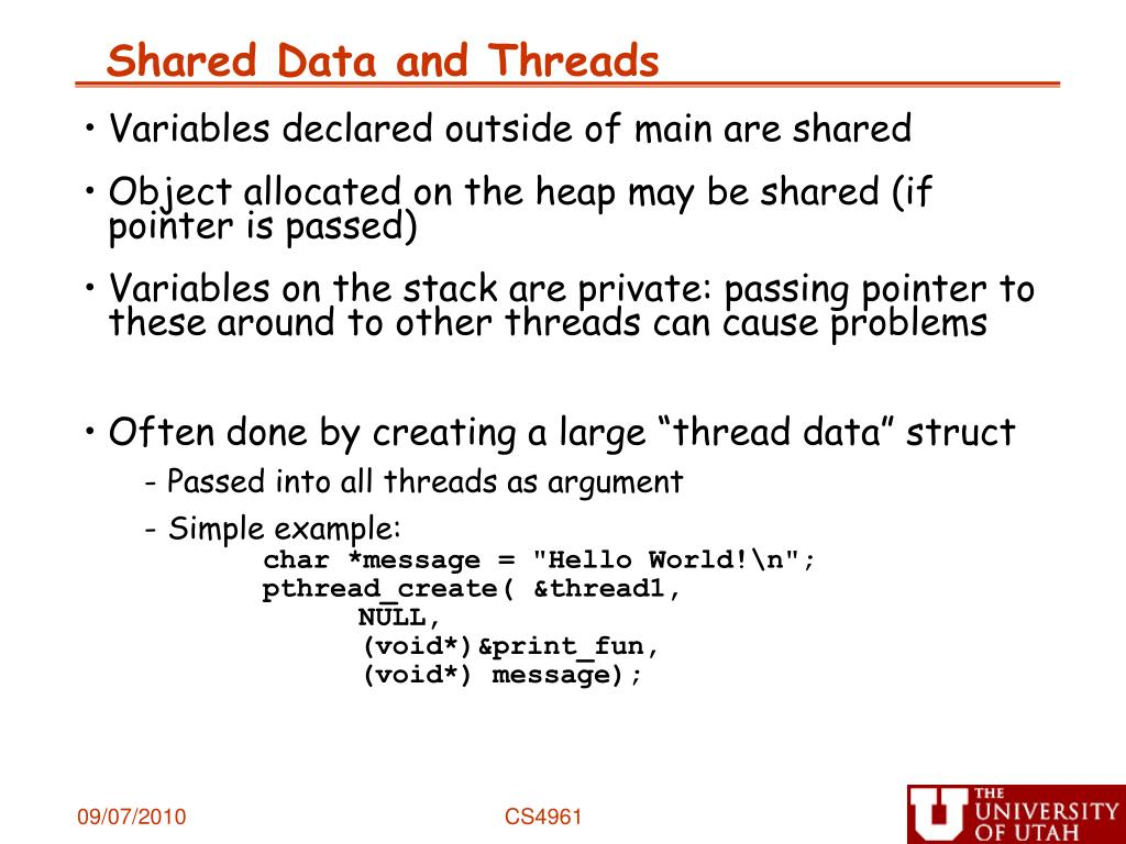 Shared Data and Threads
