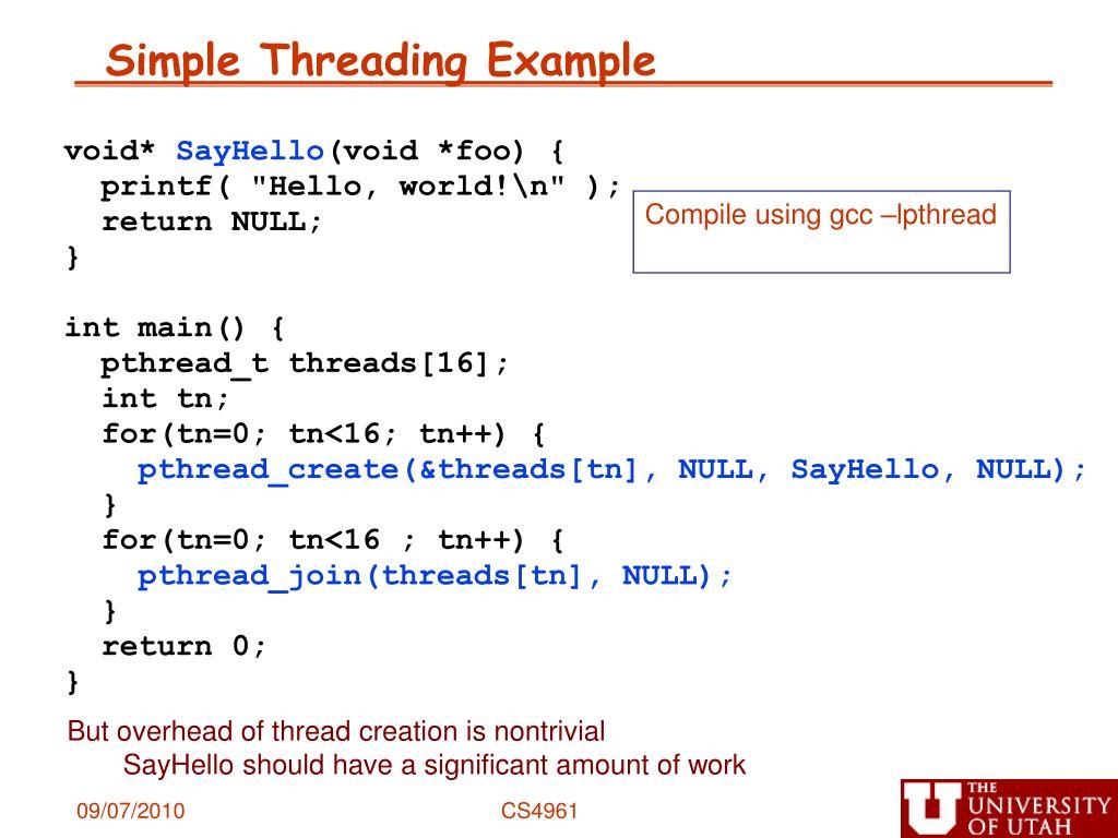 Simple Threading Example