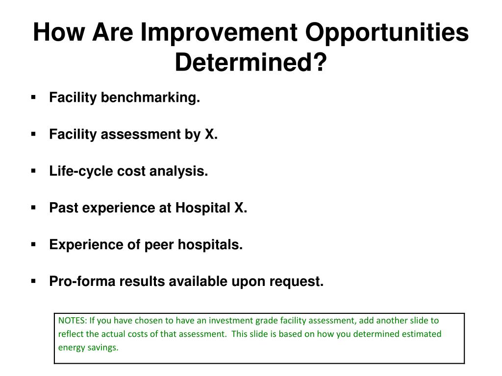How Are Improvement Opportunities