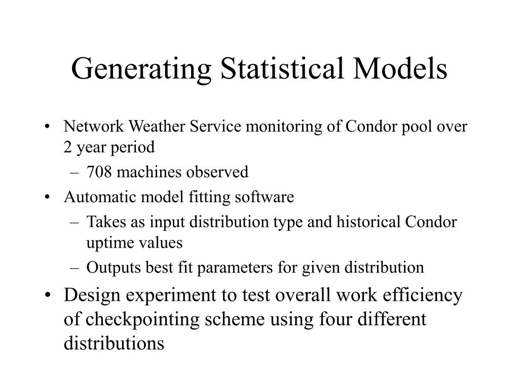 Generating Statistical Models