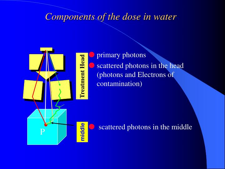 Components of the dose in water