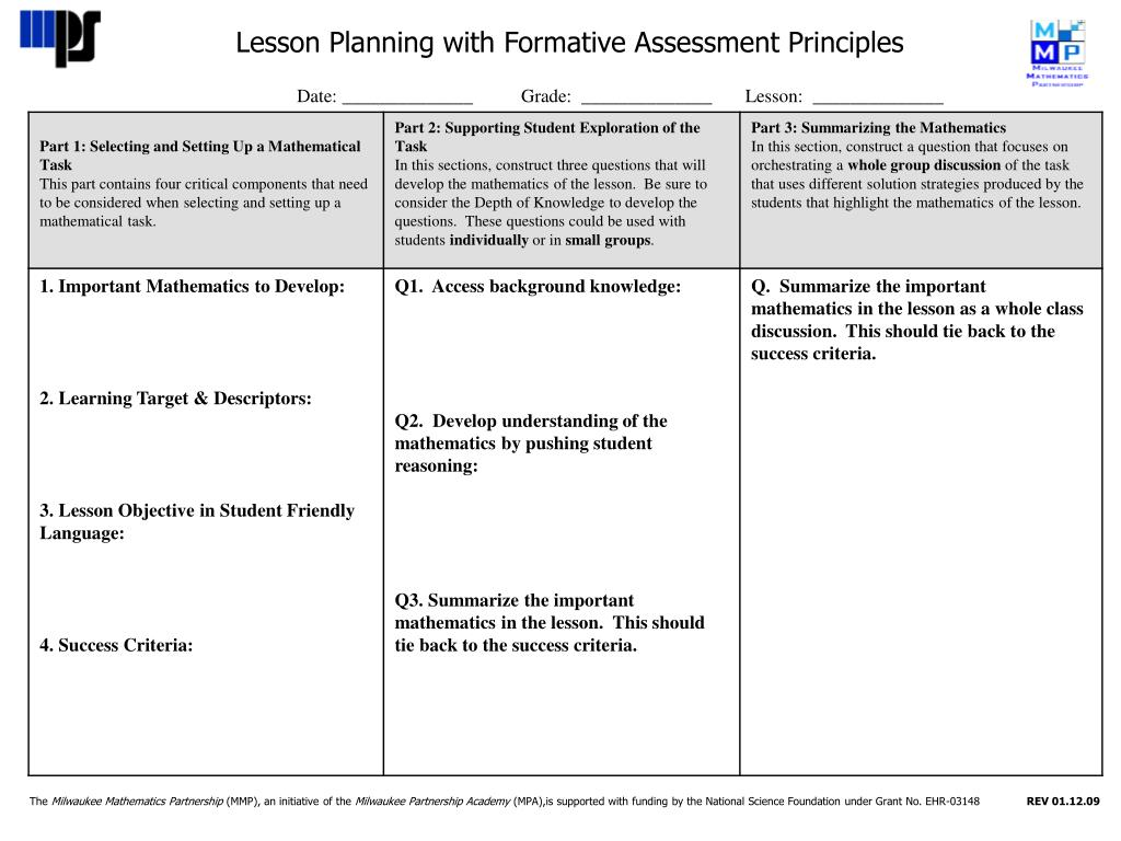 important principles of good classroom assessment