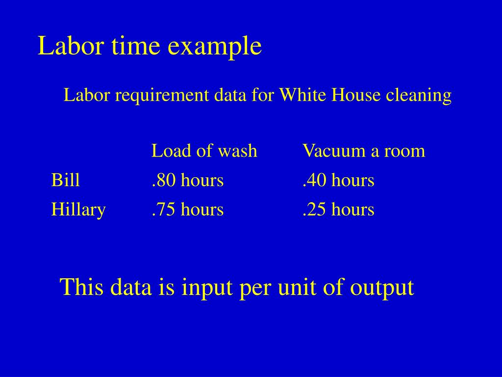 Labor time example