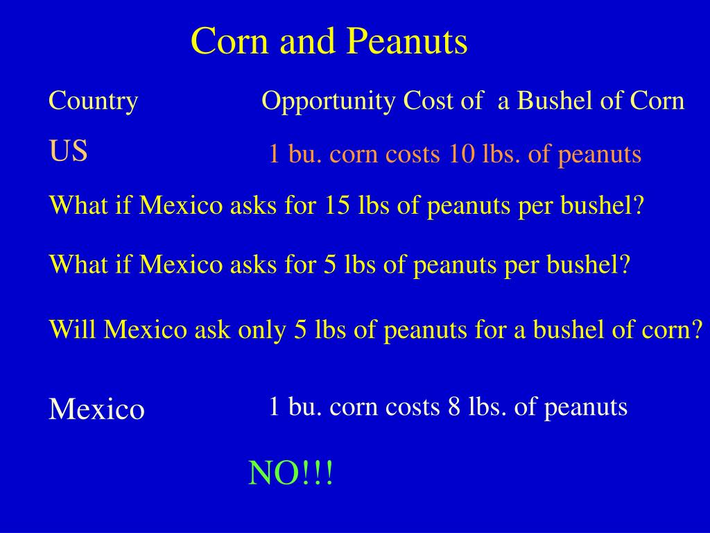 Corn and Peanuts