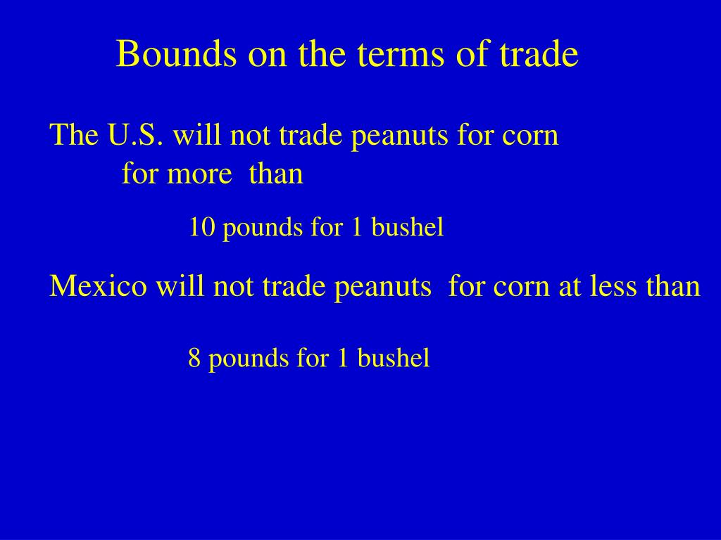 Bounds on the terms of trade