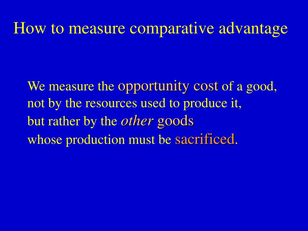 How to measure comparative advantage