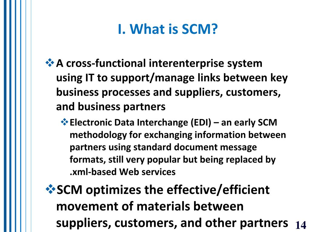 I. What is SCM?