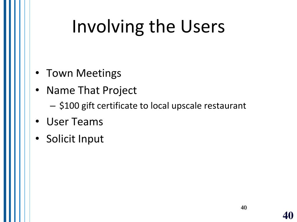 Involving the Users