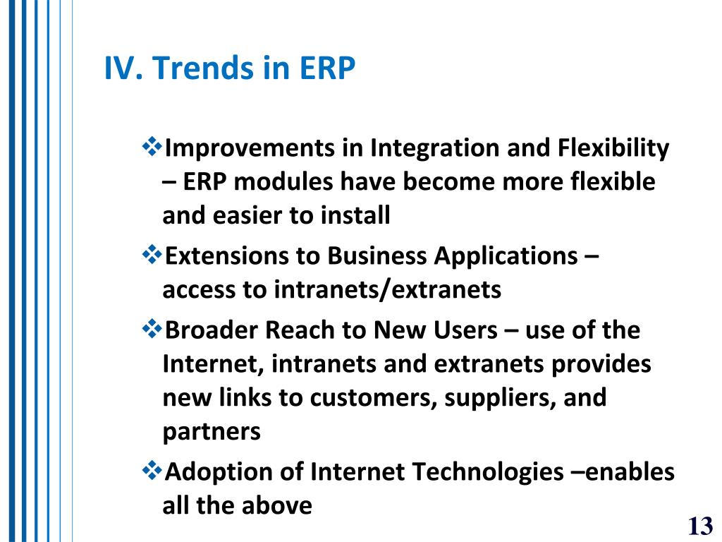 IV. Trends in ERP