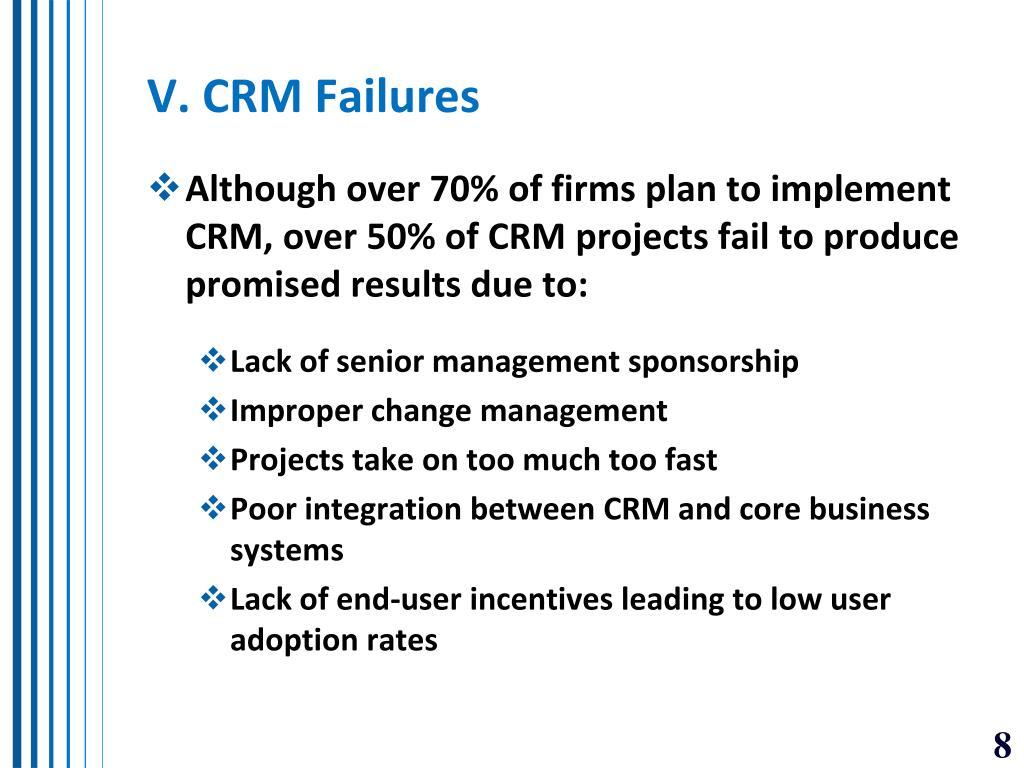 V. CRM Failures