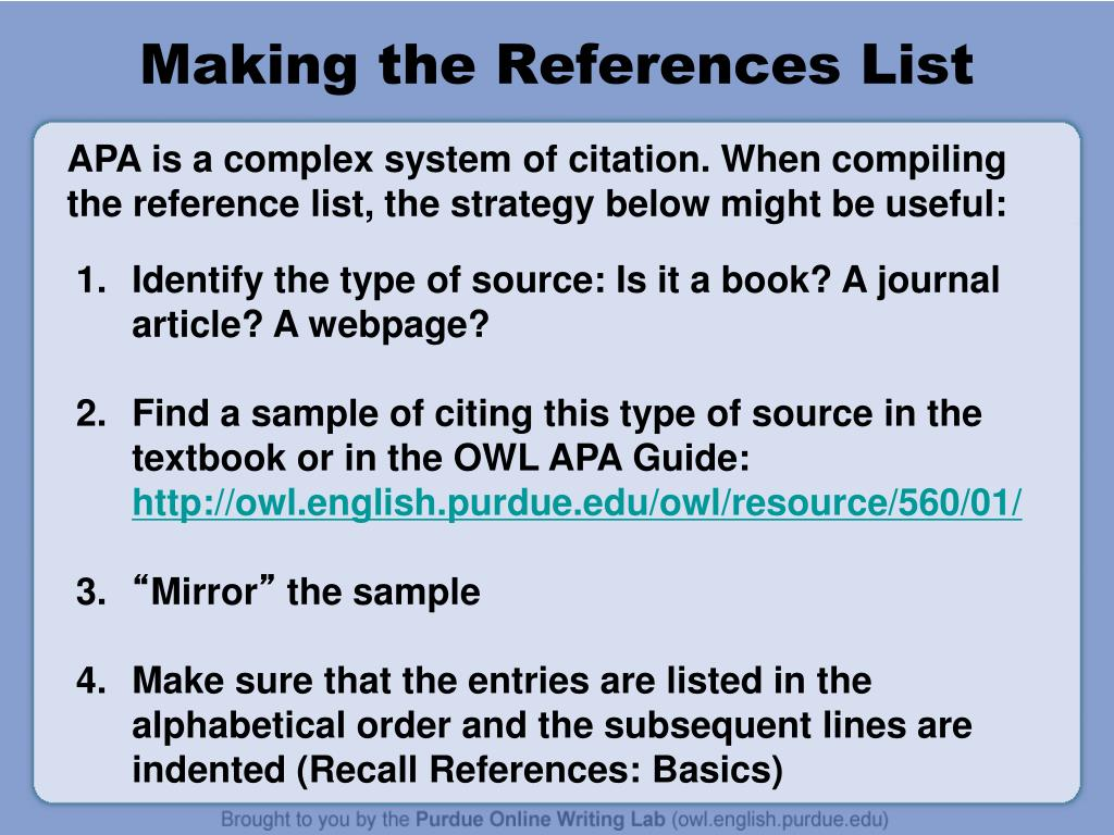 apa style owl Apa (american psychological association) style is most commonly used to cite sources within the social sciences this resource, revised according to the 6th edition.