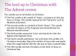 the lead up to christmas with the advent crown