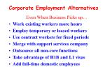 corporate employment alternatives