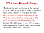 itaa notes demand changes