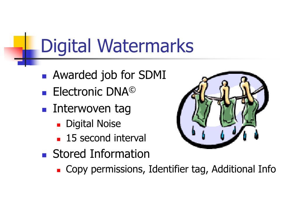 Digital Watermarks