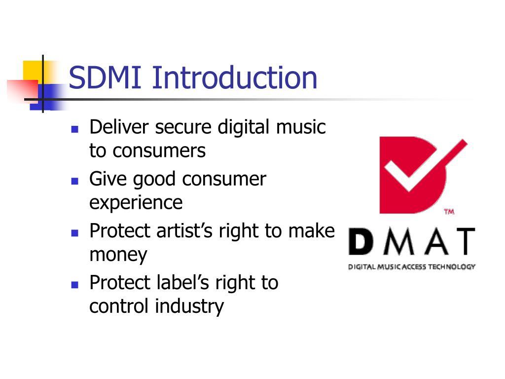 SDMI Introduction