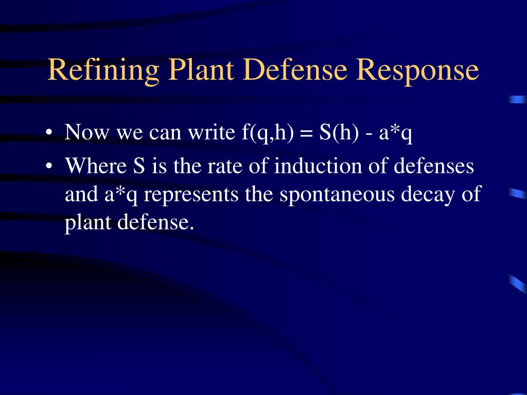 Refining Plant Defense Response