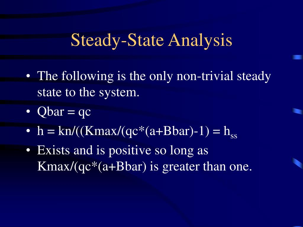 Steady-State Analysis