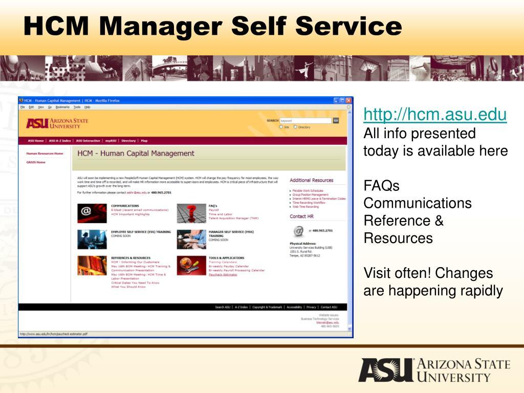 HCM Manager Self Service