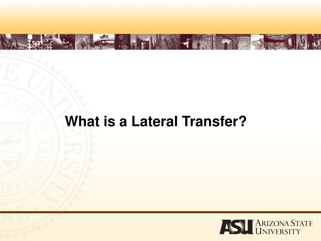What is a Lateral Transfer?