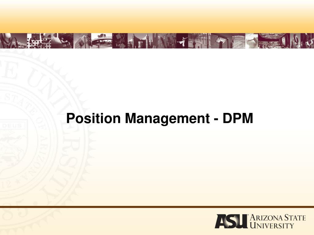 Position Management - DPM