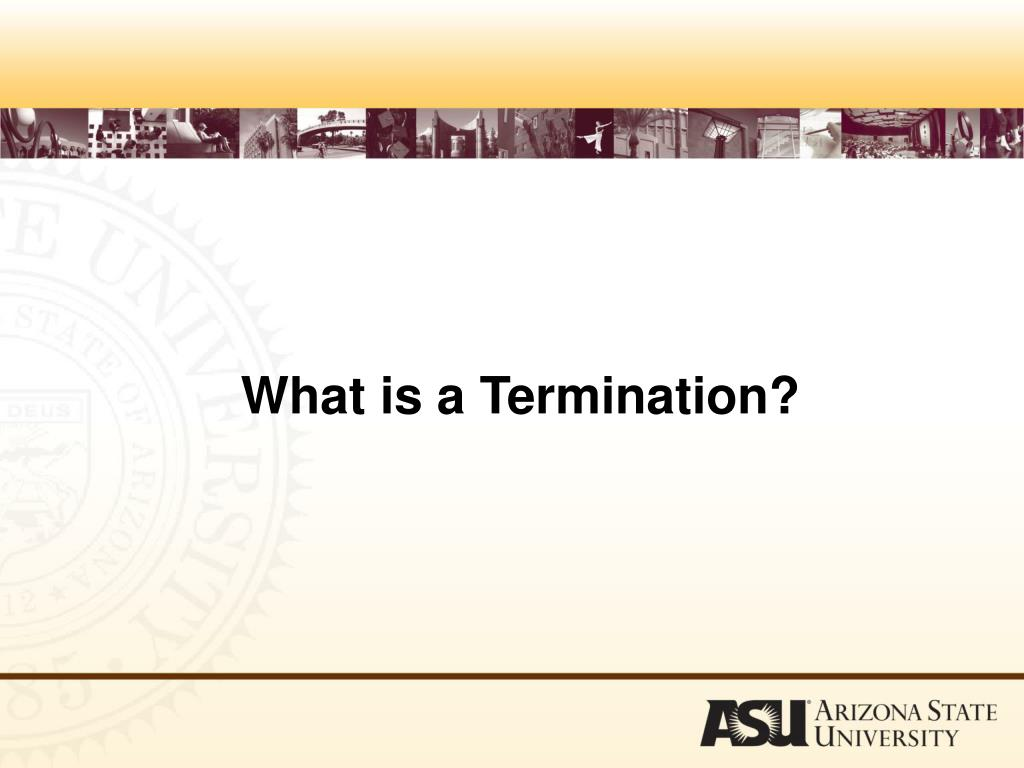 What is a Termination?