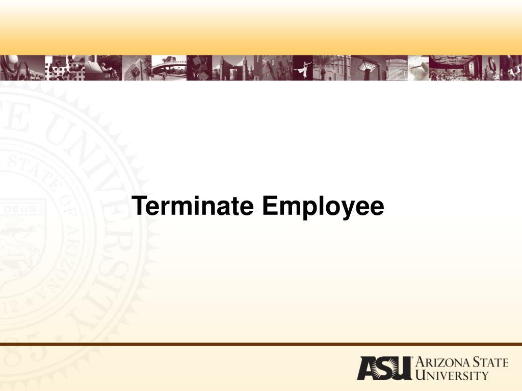 Terminate Employee