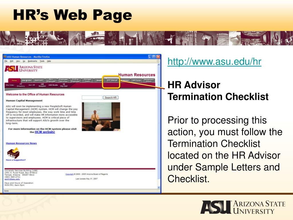 HR's Web Page