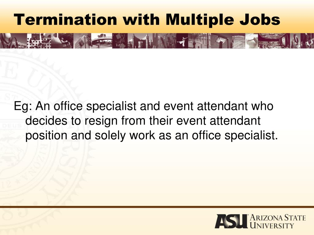 Termination with Multiple Jobs