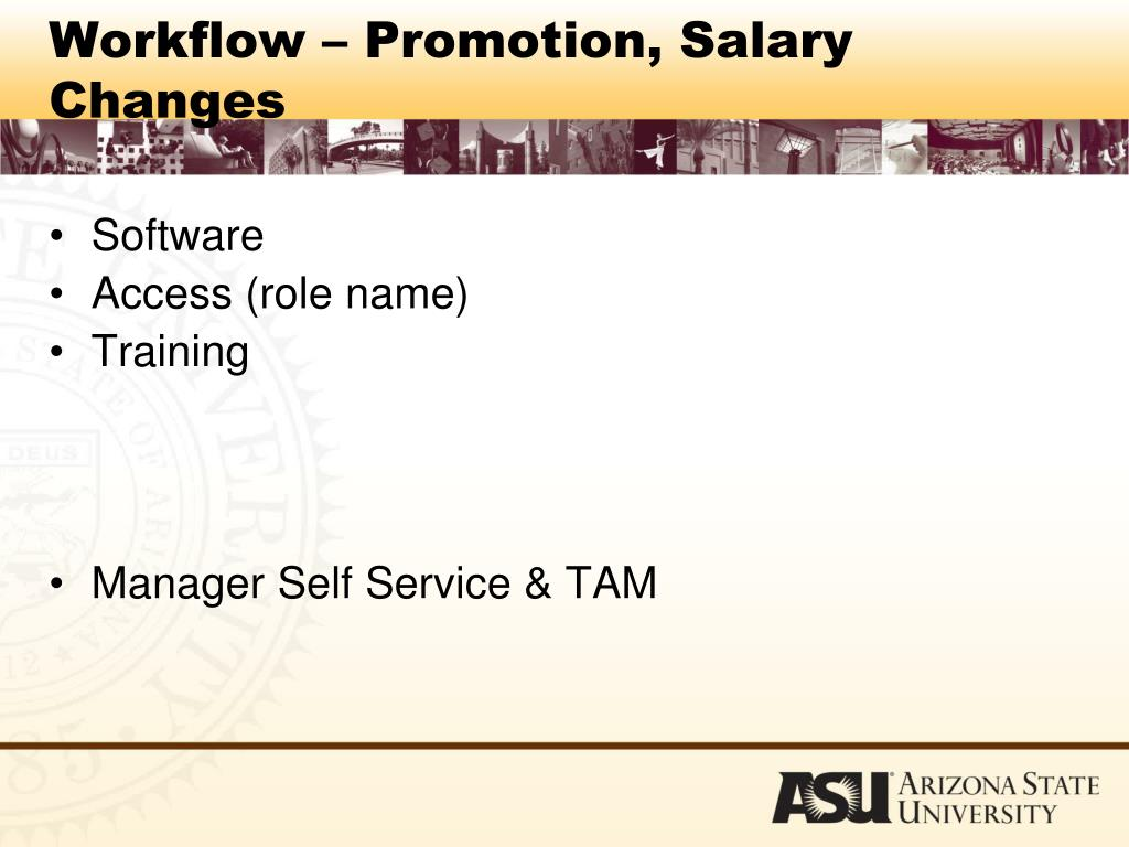 Workflow – Promotion, Salary Changes