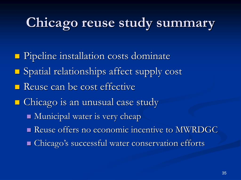 Chicago reuse study summary