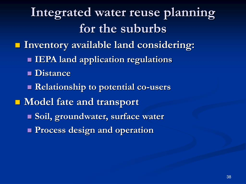 Integrated water reuse planning