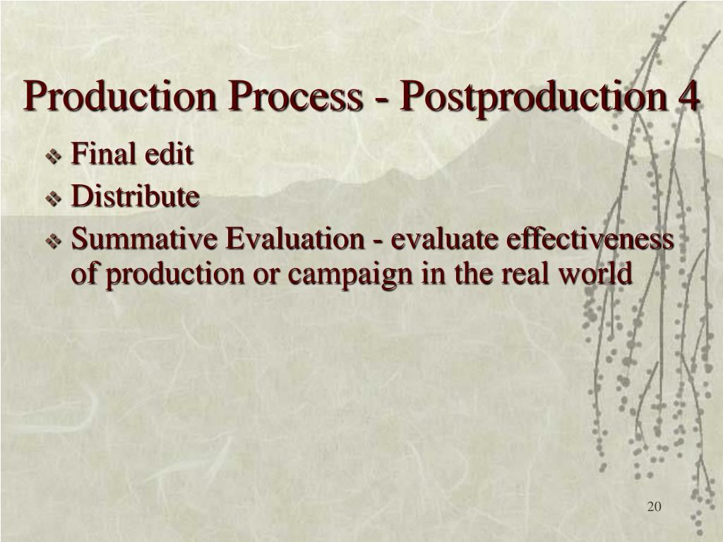 Production Process - Postproduction 4