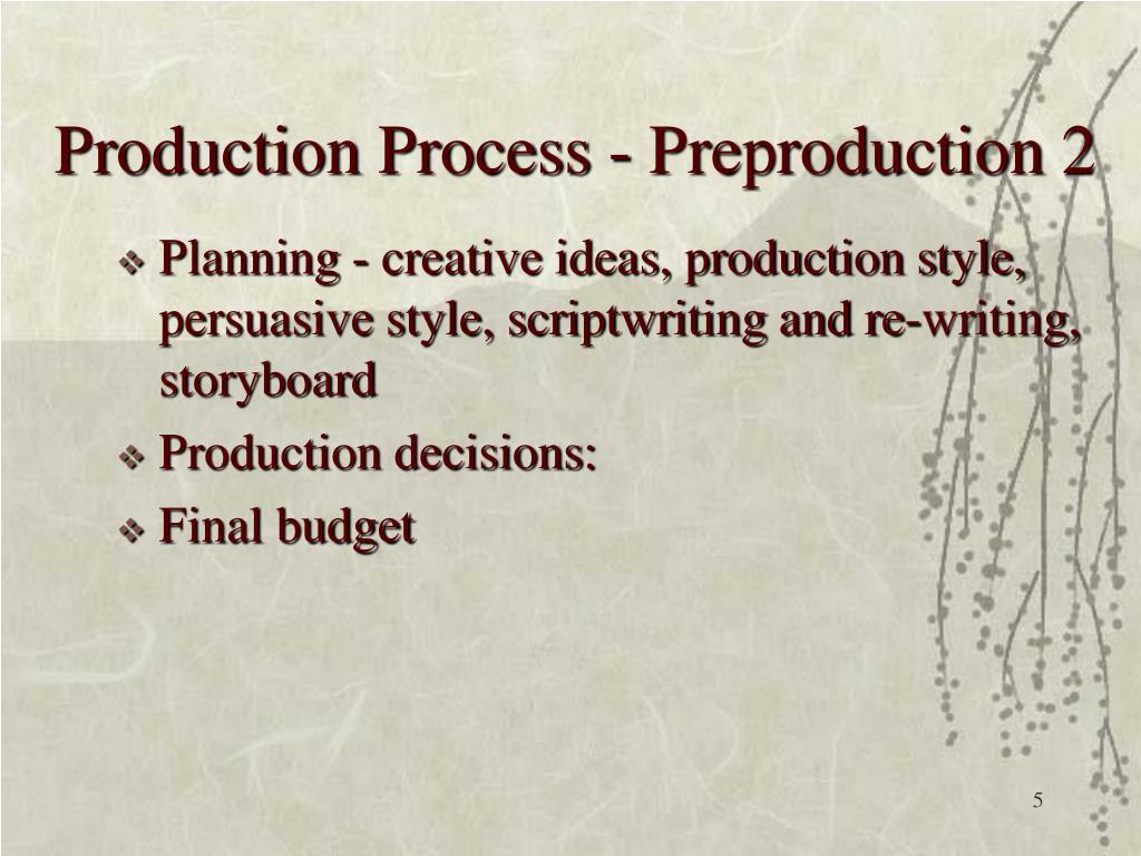 Production Process - Preproduction 2