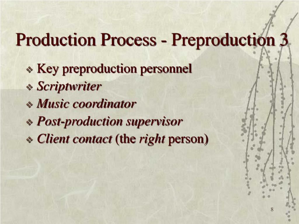 Production Process - Preproduction 3