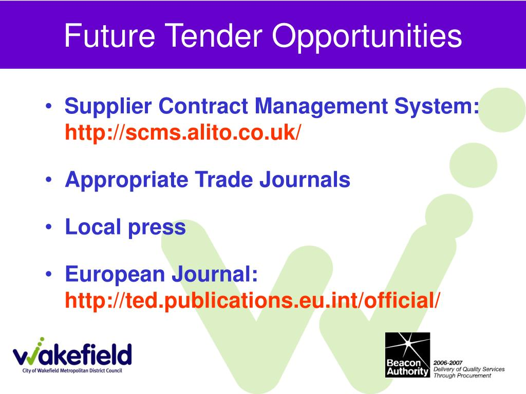 Future Tender Opportunities