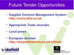future tender opportunities